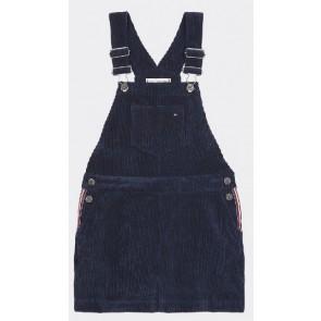 Tommy Hilfiger jurk in ribstof in de kleur blauw