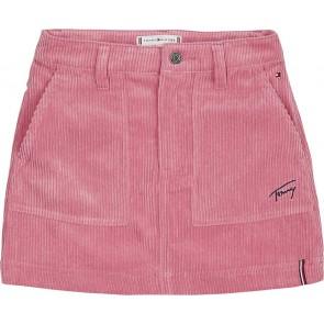 Tommy Hilfiger kids girls corduroy skirt  rokje in de kleur zachtroze