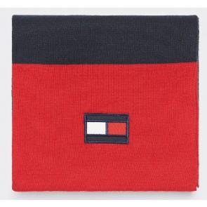 Tommy Hilfiger sjaal met colourblocking in de kleur donkerblauw