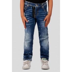 My Brand jeans broek zipper bleached spot jeans met scheuren en spetters