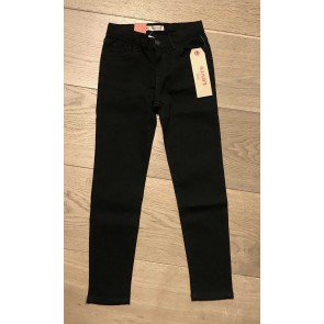 Levi's kids girls super skinny jeans 710 in de kleur zwart