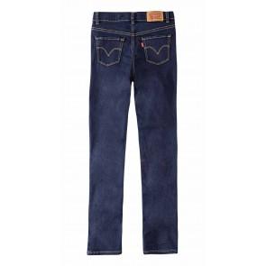 Levi's kids girls super skinny jeans broek 710 in de kleur jeansblauw