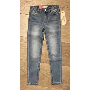 Levi's kids girls jeans broek super skinny 710 in de kleur jeansblauw