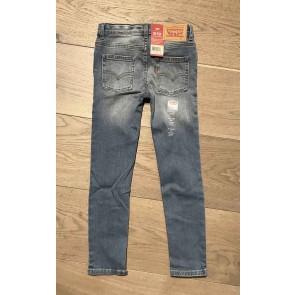 Levi's kids boys jeans broek extreme skinny 519 in de kleur jeansblauw