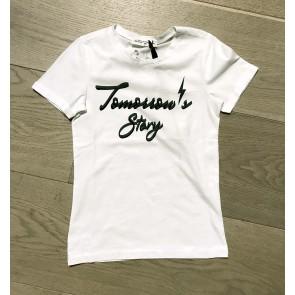 Circle of trust kids girls t-shirt tomorrow's story in de kleur wit/groen