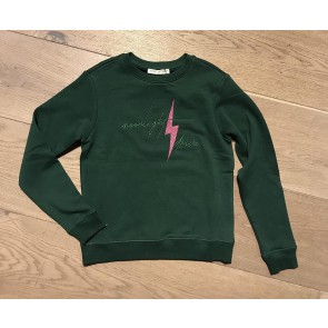 Circle of trust kids girls sweater trui moonlight drive in de kleur donkergroen