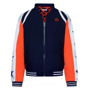 Retour jeans girls reversible jacket print jasje in de kleur donkerblauw