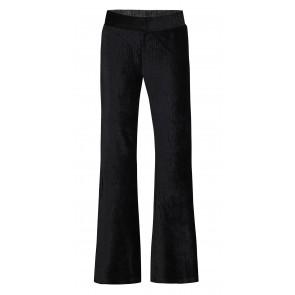 D-xel stretch flared pants broek van rib velours in de kleur zwart