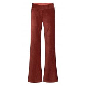 D-xel stretch flared pants broek van rib velours in de kleur bruin
