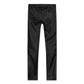 Nik en Nik imitatie leren broekje Fana pants met veters op de zijkant in de kleur zwart