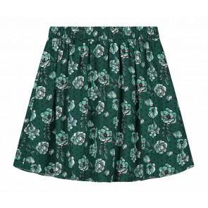 Nik en Nik girls gebloemde rok Cissy flower skirt in de kleur donkergroen