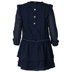 Le Big jurk met print in de kleur donkerblauw