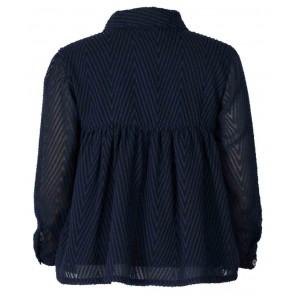 Le Big blouse met print in de kleur donkerblauw
