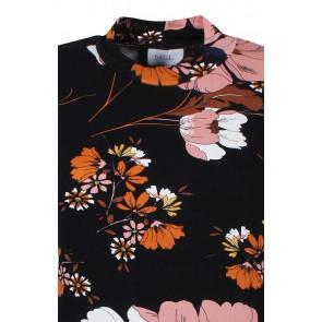 D-xel col top Emos all over print in de kleur zwarte/roze