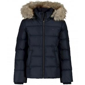 Tommy Hilfiger essentiel winterjas in de kleur donkerblauw