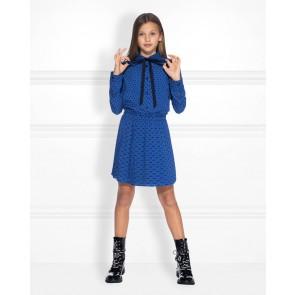 Nik en Nik kids girls Bibi blouse met hartjes print in de kleur kobalt blauw