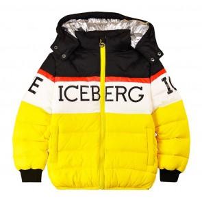 Iceberg winterjas met logo in de kleur multicolor