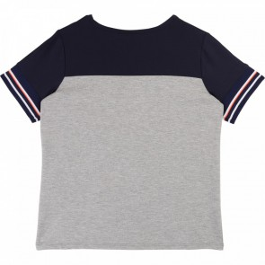 Hugo Boss girls t-shirt in de kleur grijs