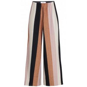 D-xel wijde glitter broek met strepen in de kleur multicolor
