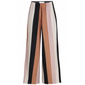 D-xel wijde broek Suri met glitter strepen in de kleur zwart/goud/roze