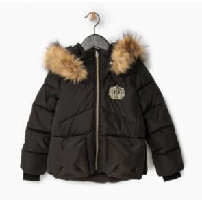 IKKS girls winterjas met dons in de kleur zwart