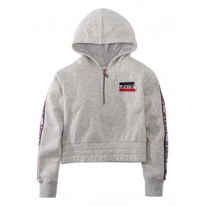 Levi's hoodie trui met logo tape in de kleur grijs