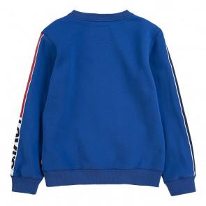Levi's sweater trui met logo in de kleur kobalt blauw