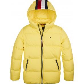 Tommy Hilfiger padded winterjas met logoband in de kleur geel