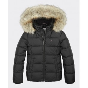 Tommy Hilfiger essential winterjas in de kleur zwart