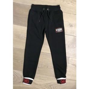 My Brand Junior sweatpants broek met logotape in de kleur zwart