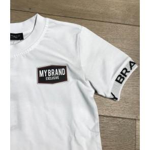 My Brand Junior t-shirt met logotape in de kleur wit