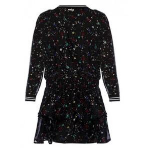 Retour Jeans Wimona jurk met print in de kleur zwart