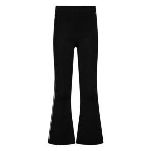 Retour Jeans Jozefien flared broek met zilvere bies in de kleur zwart