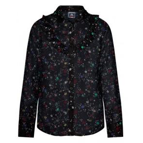 Retour Jeans Yasmine blouse met print in de kleur zwart
