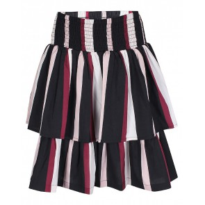 D-xel rok Manny met banen in de kleur rood/roze/zwart