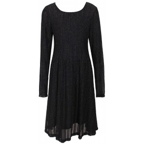 D-XEL jurk met gouden accenten in de kleur zwart