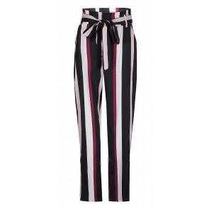 D-xel losse broek Malissa met strepen in de kleur rood/roze/zwart