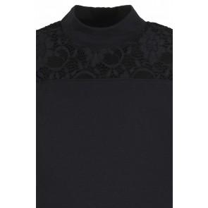 D-XEL kanten longsleeve top in de kleur zwart