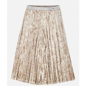 Mayoral velourse plissée culotte broek in de kleur goud