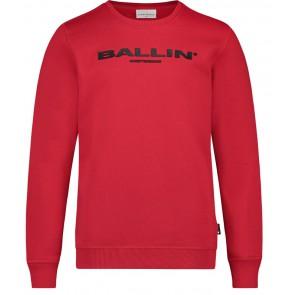 Ballin Amsterdam sweater trui met logo print in de kleur rood