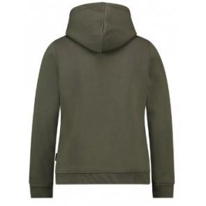 Ballin Amsterdam hoodie sweater trui met logo print in de kleur army green