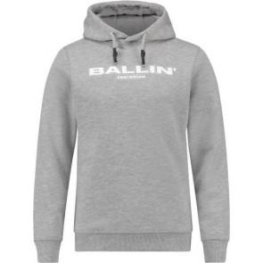Ballin Amsterdam hoodie sweater trui met logo print in de kleur lichtgrijs