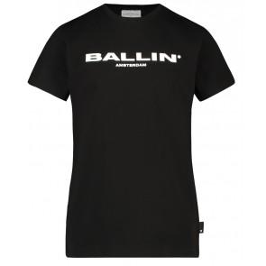 Ballin Amsterdam t-shirt met logo print in de kleur zwart