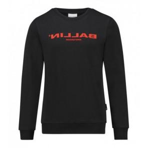 Ballin Amsterdam sweater trui met logo in de kleur zwart