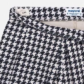 Mayoral kids meisjes pied de poule stof short broekje in de kleur creme/blauw
