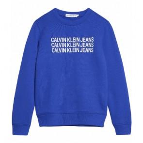 Calvin Klein Jeans sweater trui met logo in de kleur blauw