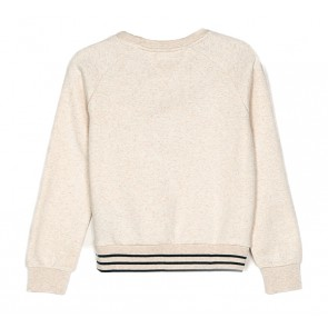 Tommy Hilfiger girls sweater trui puff sleeve met sterren in de kleur off white