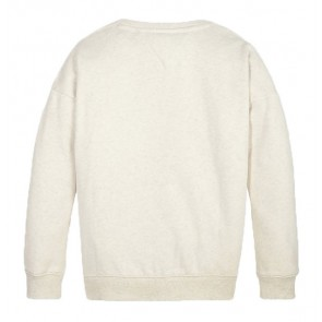Tommy Hilfiger girls logo sweater tommy signature crew in de kleur off white