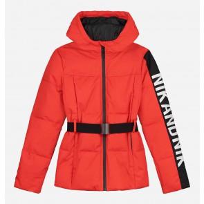 Nik en Nik girls skijas Elsa ski jacket in de kleur poppy red rood