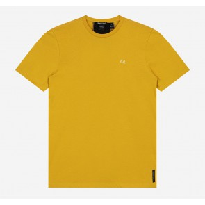 Nik en Nik boys Pele t-shirt met logo op achterpand in de kleur mustard yellow geel